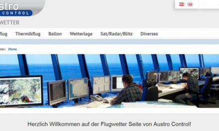 Austro Control weather with new website