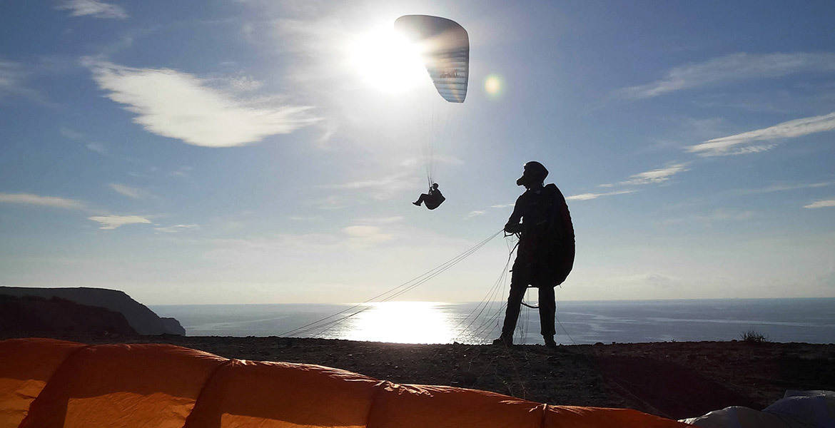 Paragliding in Portugal (Algarve)