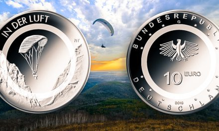 New 10 Euro collector's coin shows paraglider